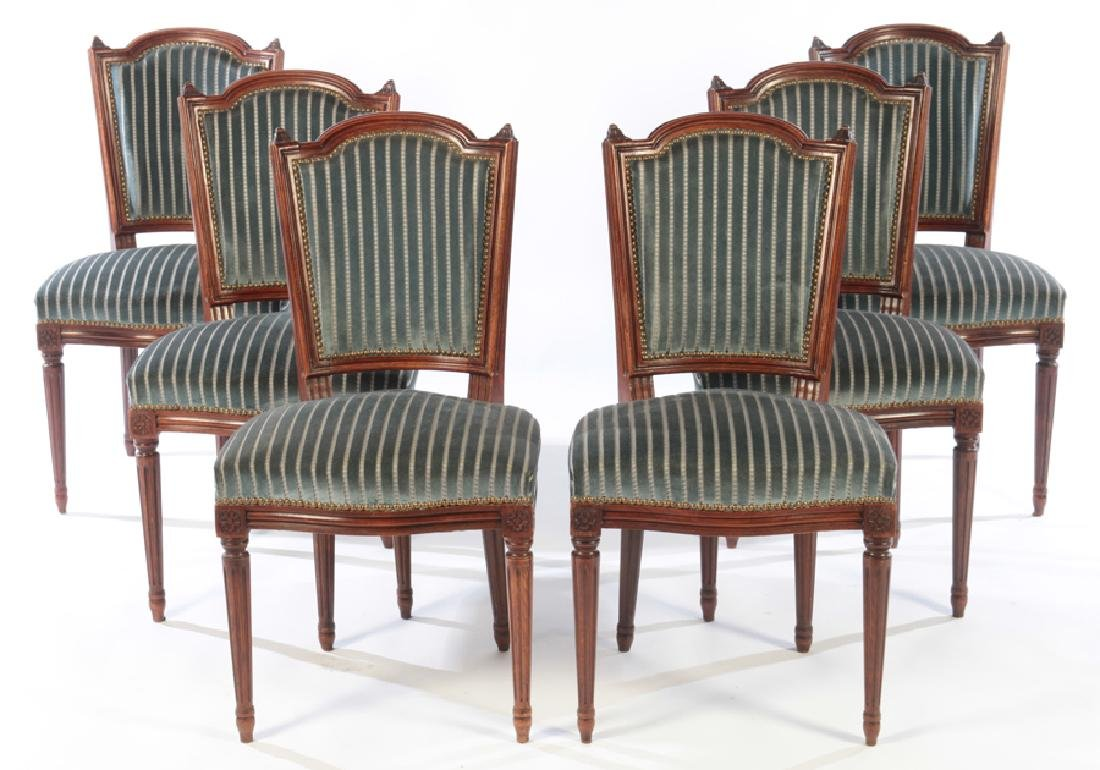 6 FRENCH DINING CHAIRS LOUIS XVI STYLE C.1950