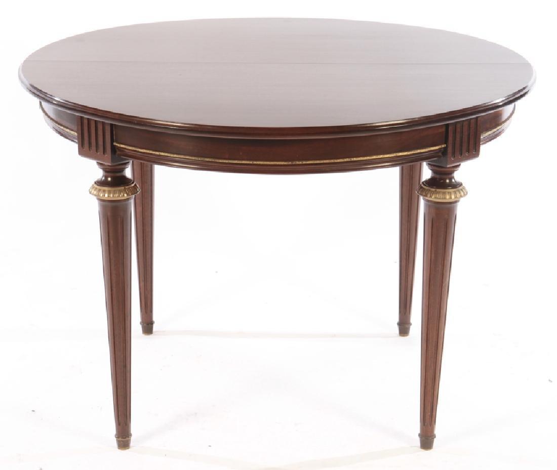 ROUND FRENCH MAHOGANY DINING TABLE LOUIS XVI 1950