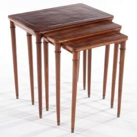 SET 3 COMTE MAHOGANY NESTING TABLES 1940