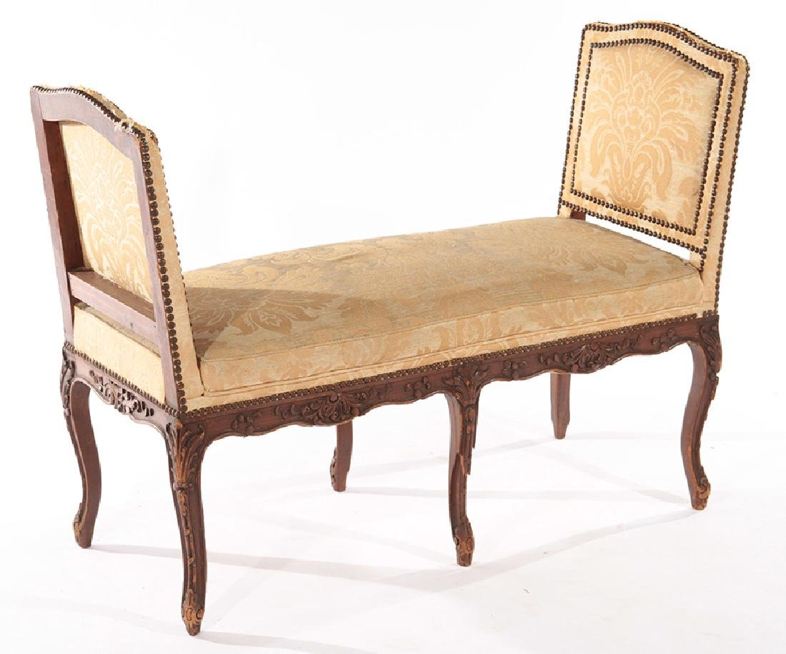 FRENCH LOUIS XV STYLE CARVED BENCH C.1940