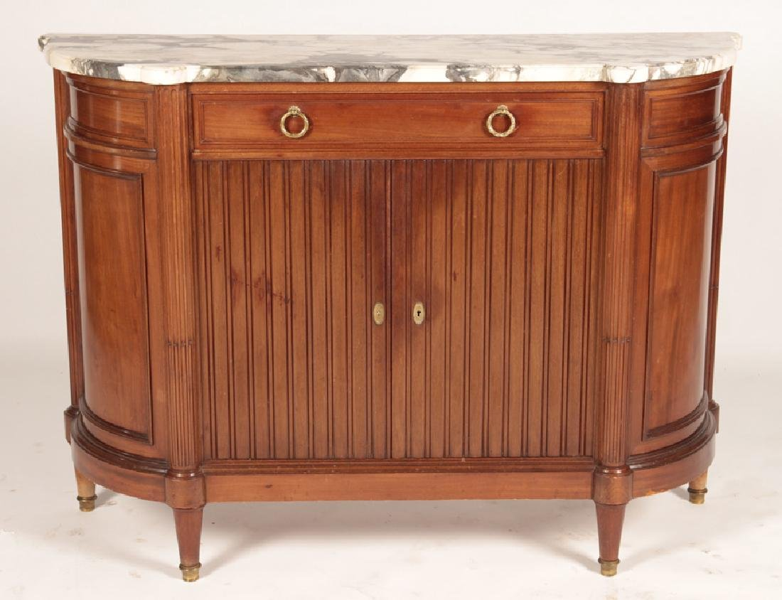 LOUIS XVI STYLE SERVER SHAPED MARBLE TOP 1920