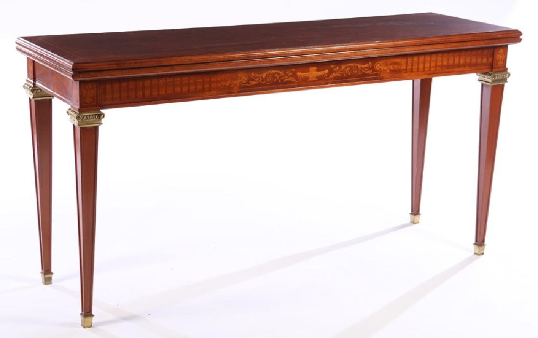 FLIP TOP DINING TABLE BRONZE MOUNTED 1940