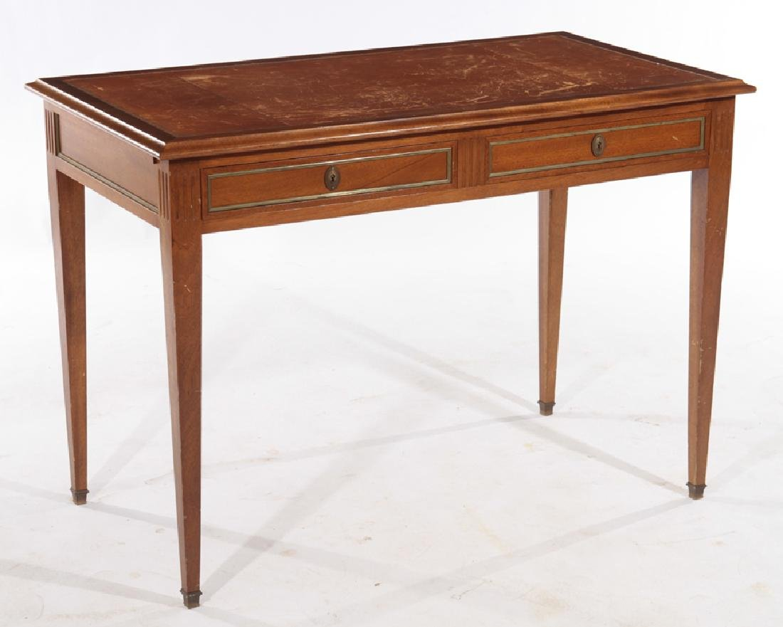 LOUIS XVI STYLE MAHOGANY WRITING DESK C.1940