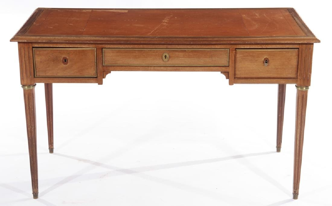 FRENCH LOUIS XVY DESK INSET LEATHER TOP 1940