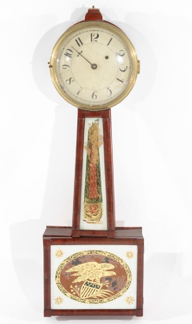 LATE 19TH CENT. MAHOGANY BANJO CLOCK C.1890