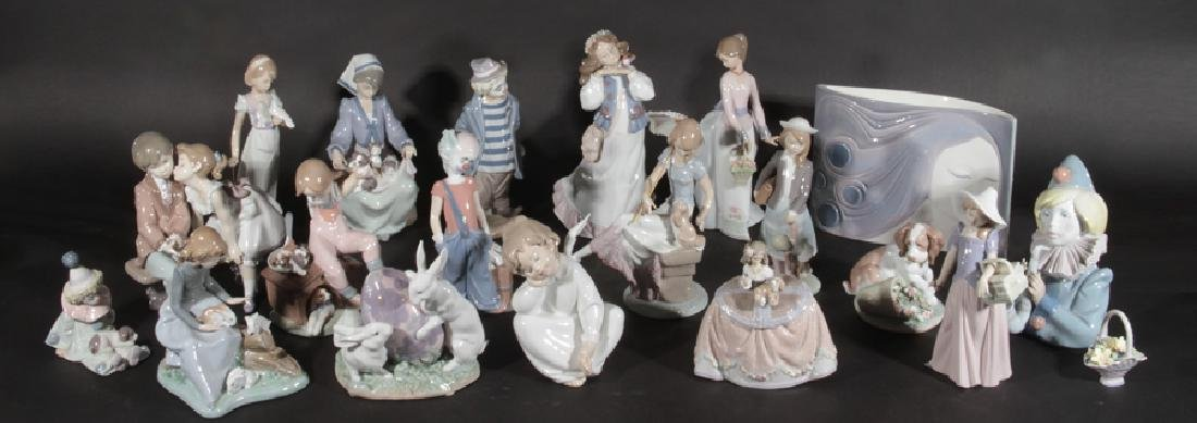20 LLADRO PORCELAIN FIGURINES