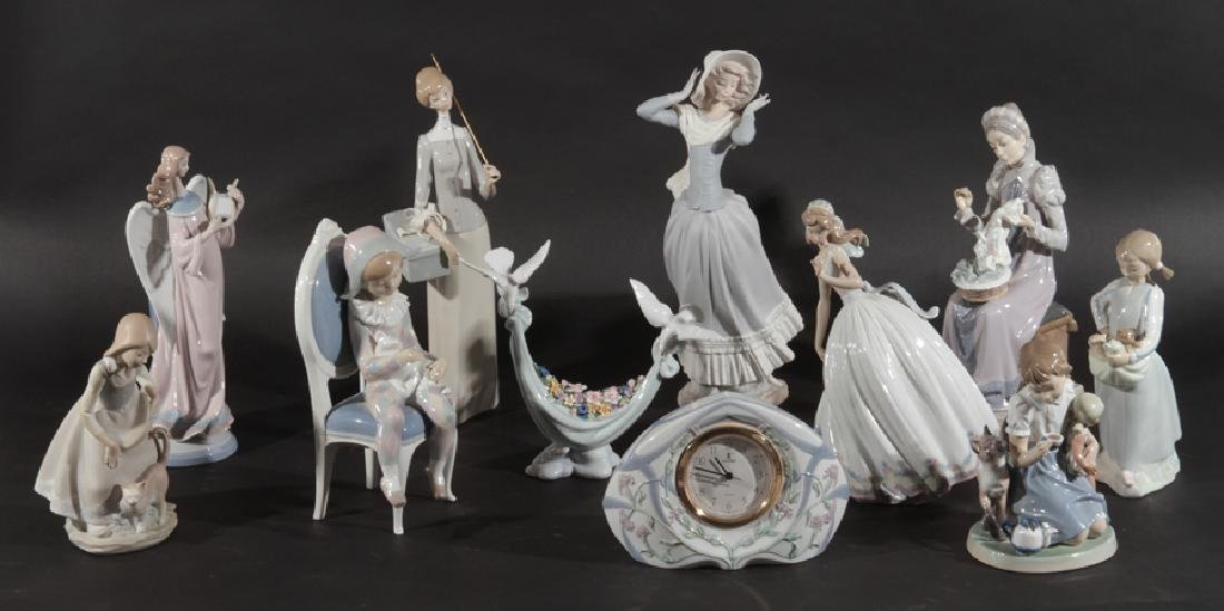 GROUPING OF 11 LLADRO PORCELAIN FIGURINES