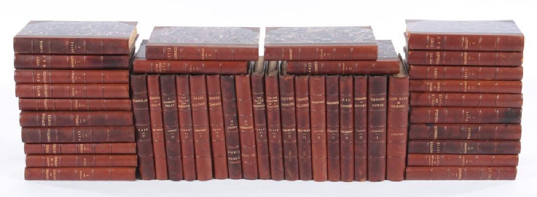 COLLECTION OF 42 ANTIQUE BOOKS CIRCA 1870