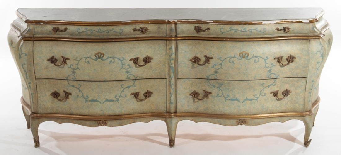VENETIAN STYLE BOMBAY COMMODE MARBLE TOP