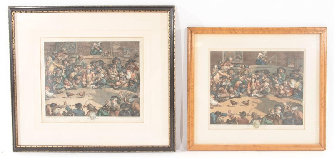 "2 WILLIAM HOGARTH ENGRAVINGS ""THE PIT TICKET"""