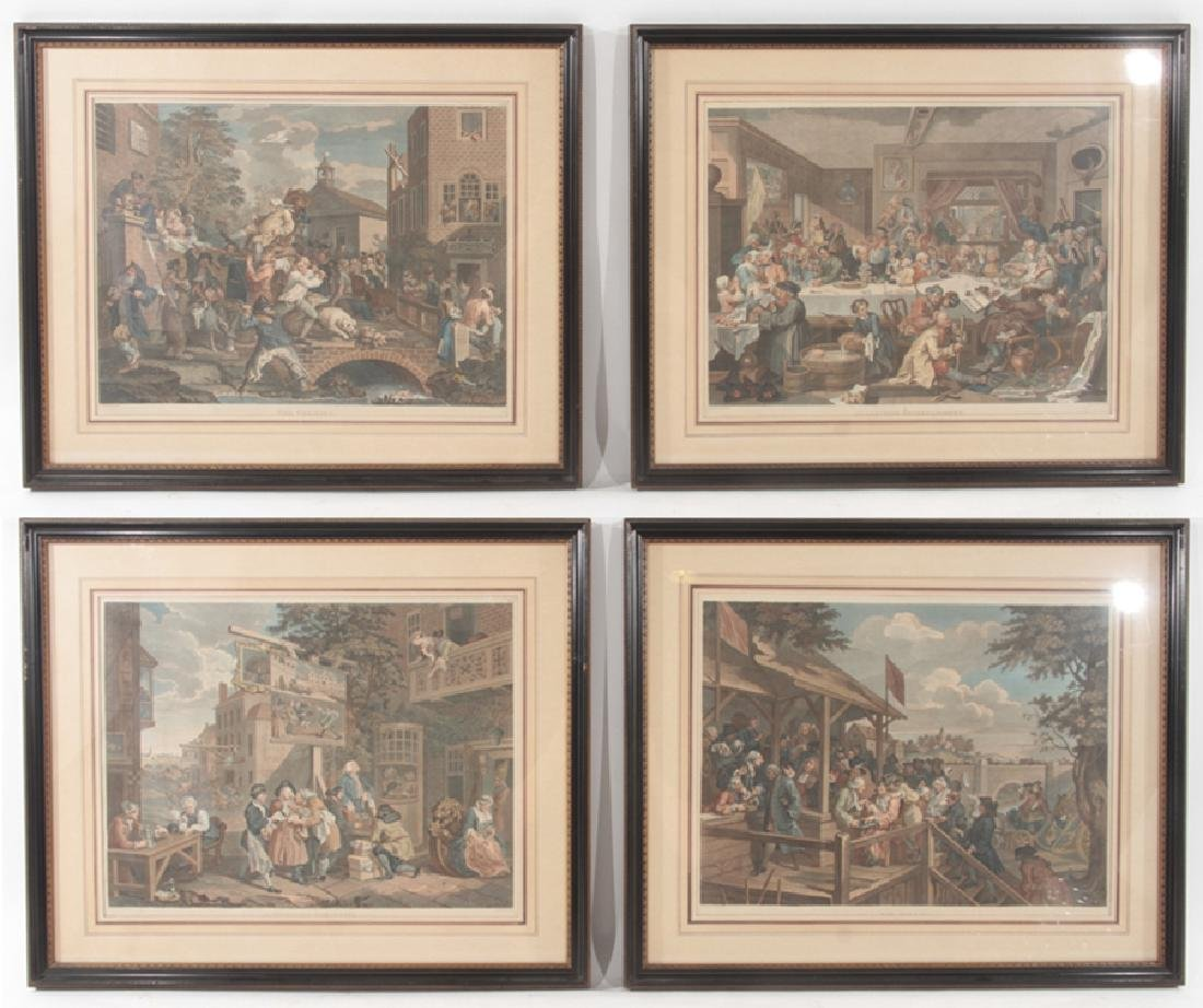 4 ANTIQUE ENGRAVINGS WILLIAM HOGARTH THOMAS COOK