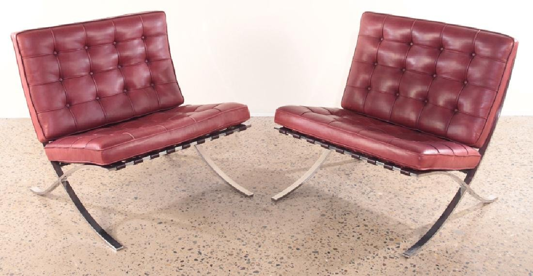 MIES VAN DER ROHE BARCELONA CHAIRS KNOLL