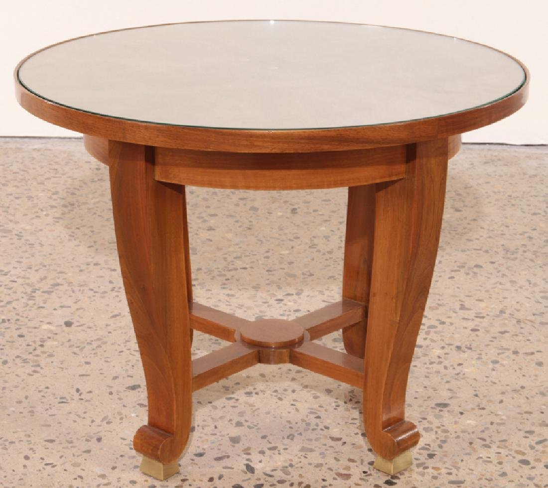SIGNED OCCASIONAL TABLE BY JULES LELEU CIRCA 1950