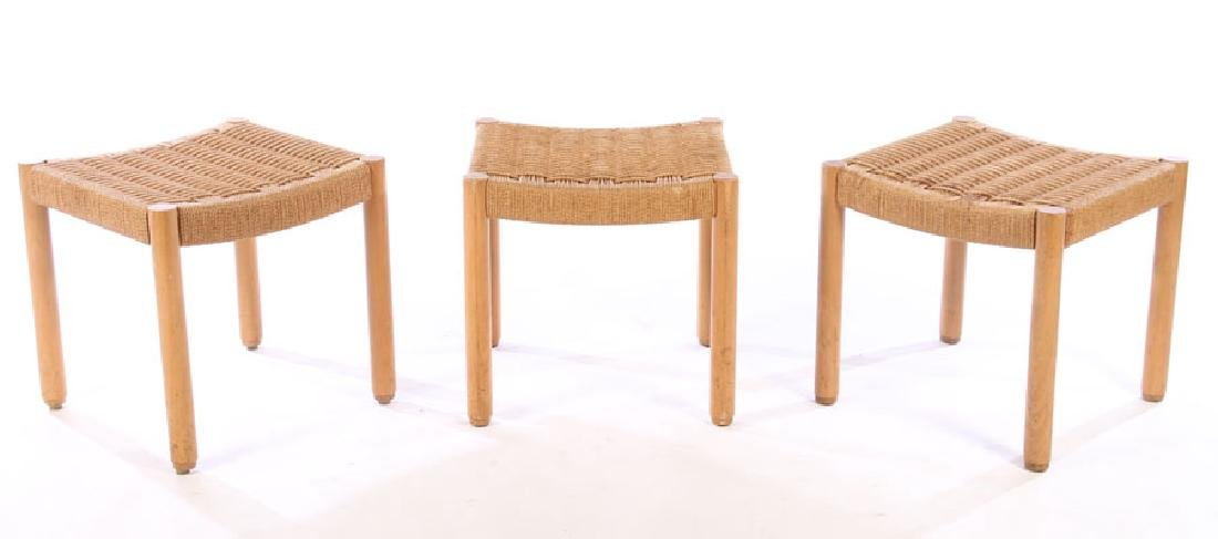3 FRENCH MODERN STOOLS CHARLOTTE PERRIAND 1950