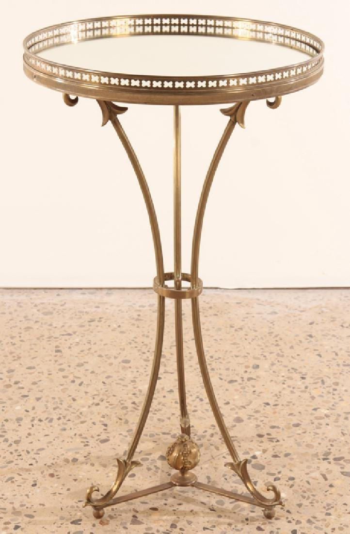 BRONZE GLASS MAISON CHARLES TOP SIDE TABLE C.1940