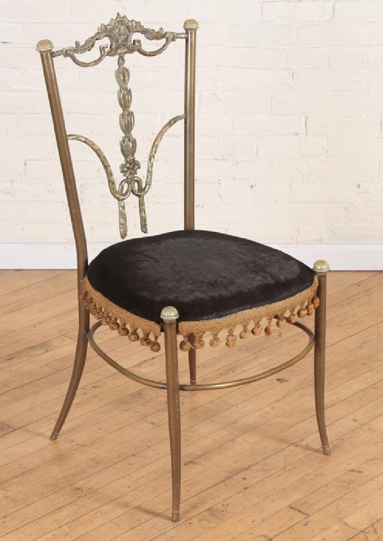 BRONZE CHAIR WITH CUSHIONED SEAT