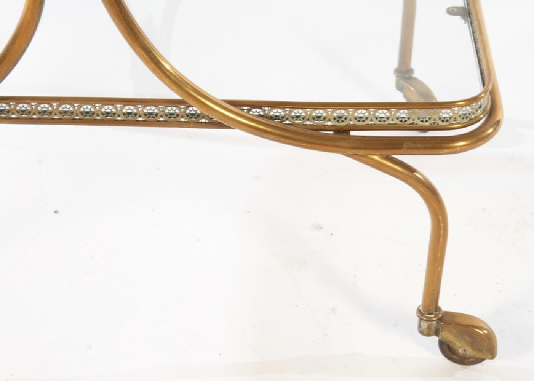 NEOCLASSICAL BRASS DINING CART GLASS TOP C.1940 - 6