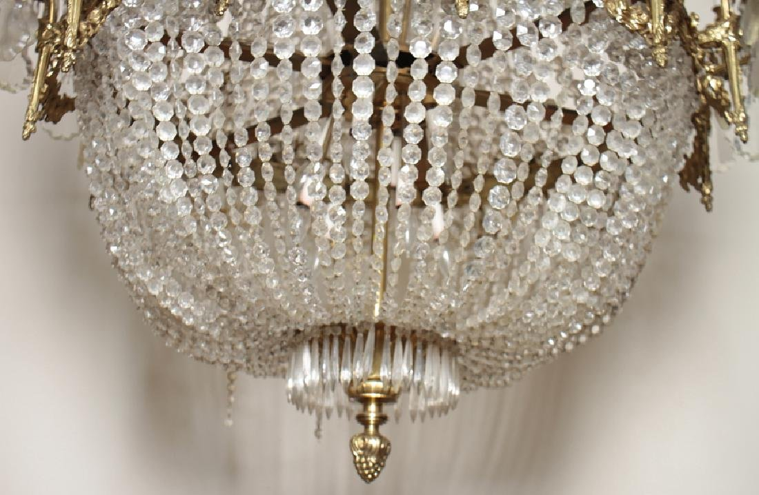 BASKET FORM 24 ARM EMPIRE STYLE CHANDELIER - 5