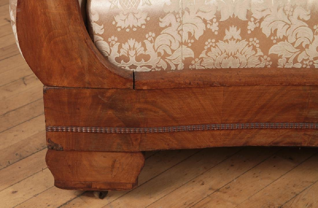 EMPIRE STYLE CARVED WALNUT SOFA CIRCA 1850 - 5