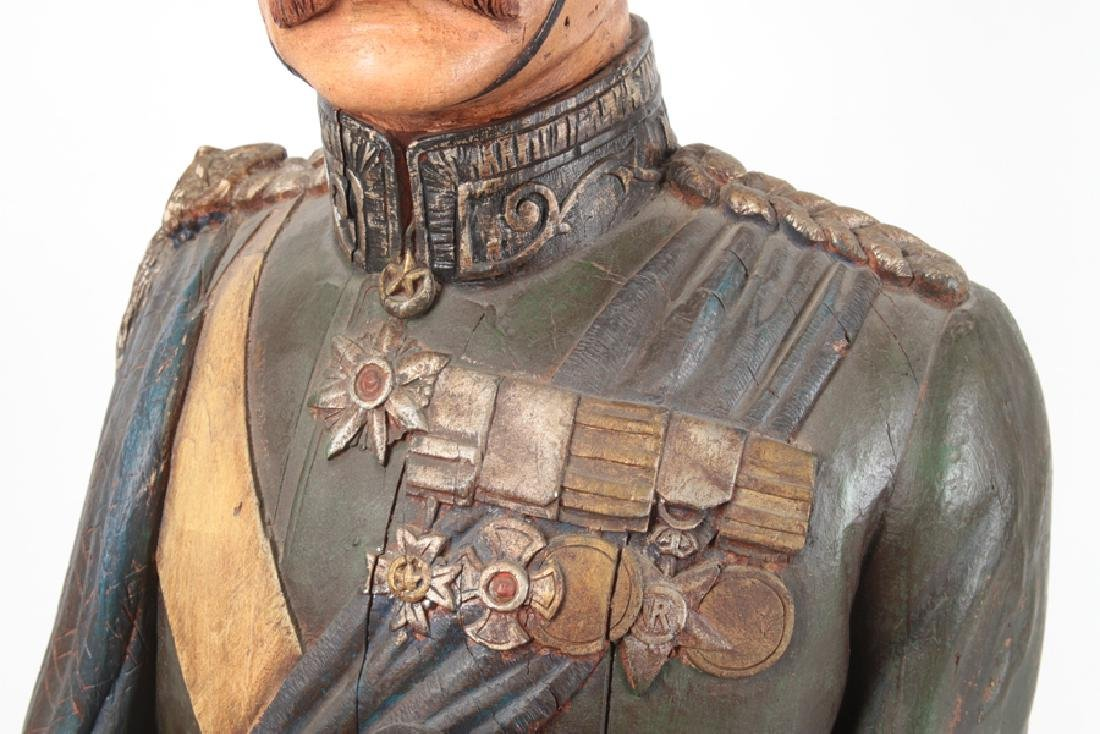 POLYCHROMED PLASTER BUST MILITARY FIGURE C.1950 - 3