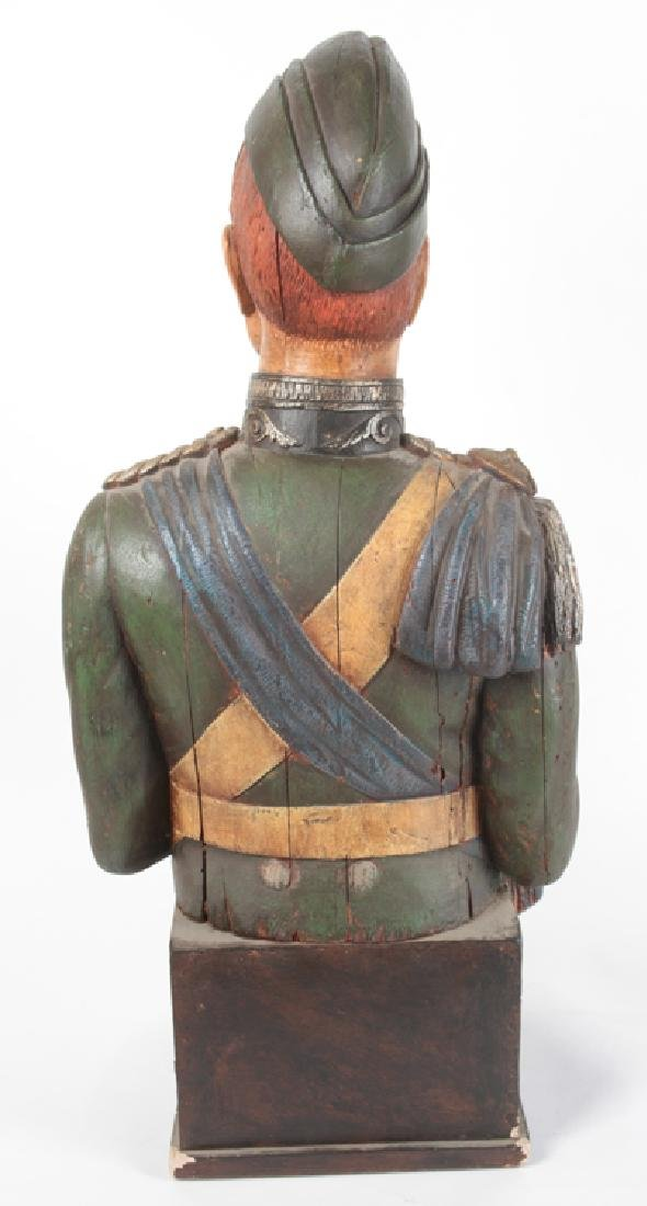 POLYCHROMED PLASTER BUST MILITARY FIGURE C.1950 - 5