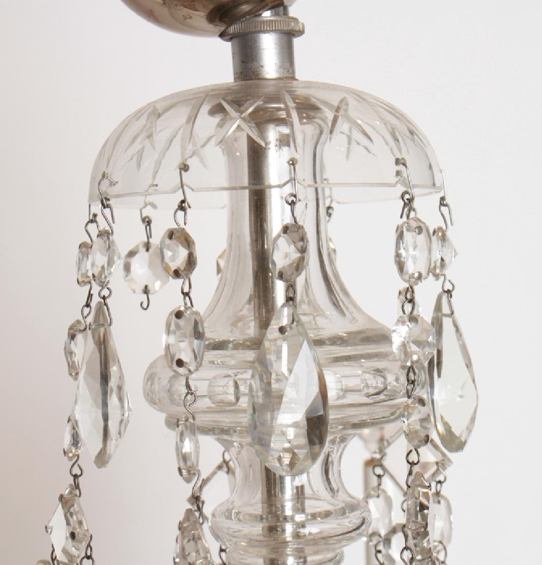 PAIR CRYSTAL POLISHED CHROME CHANDELIERS C.1930 - 5