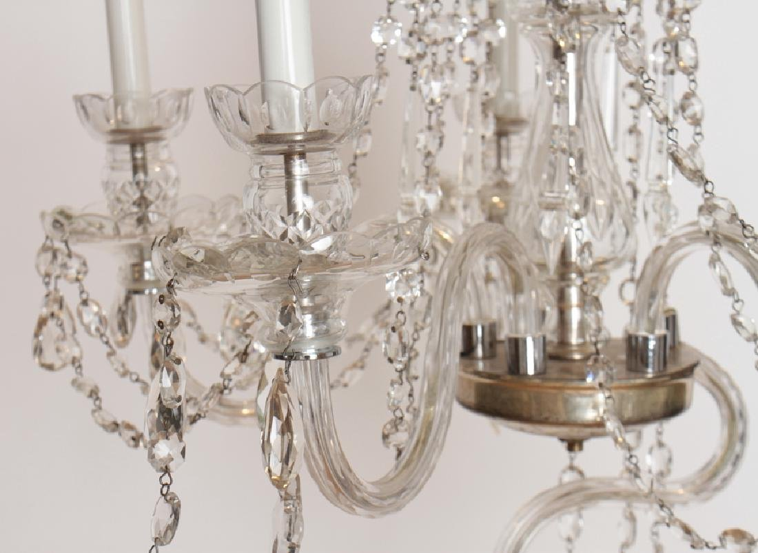 PAIR CRYSTAL POLISHED CHROME CHANDELIERS C.1930 - 6