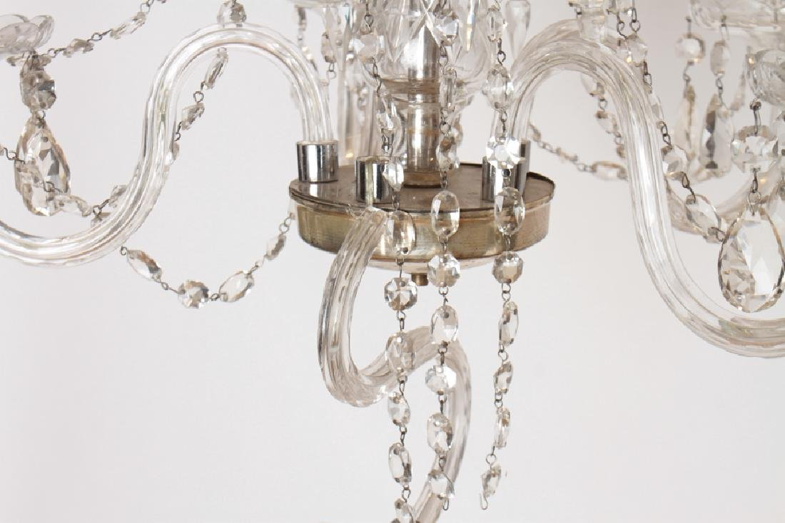 PAIR CRYSTAL POLISHED CHROME CHANDELIERS C.1930 - 7