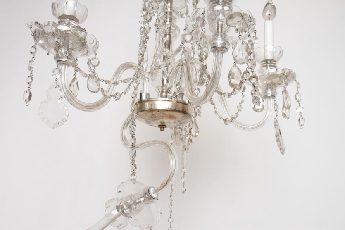 PAIR CRYSTAL POLISHED CHROME CHANDELIERS C.1930 - 8