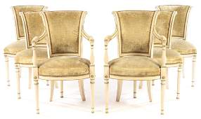6 DINING CHAIRS SIGNED MAURICE HIRSCH C.1950