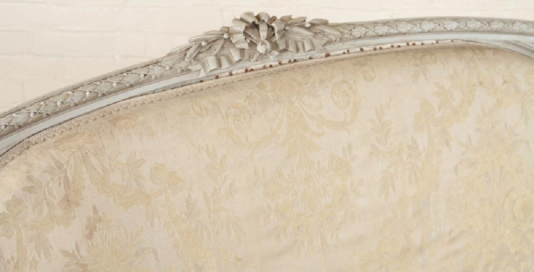 LOUIS XVI STYLE CURVED BACK SOFA C. 1920 - 3