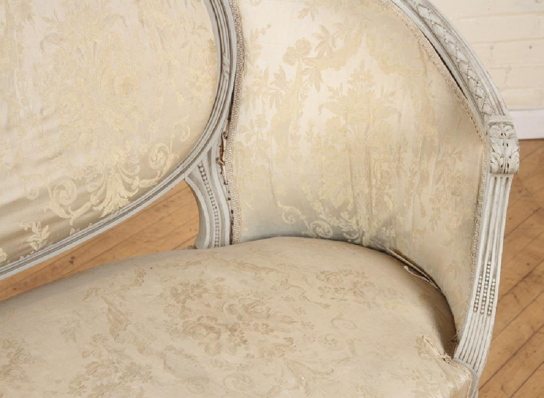 LOUIS XVI STYLE CURVED BACK SOFA C. 1920 - 4