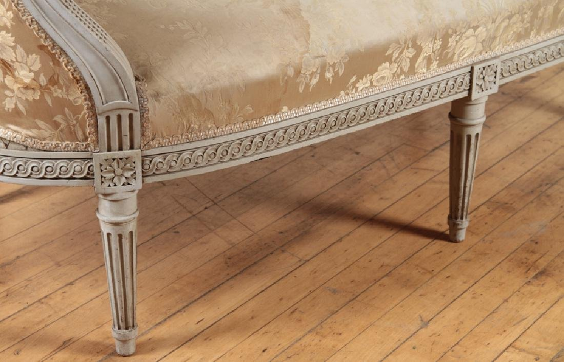 LOUIS XVI STYLE CURVED BACK SOFA C. 1920 - 5