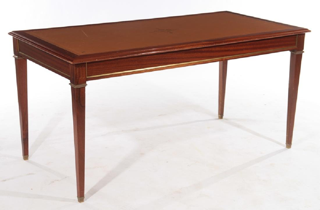 FRENCH LOUIS XVI STYLE WRITING DESK LEATHER TOP