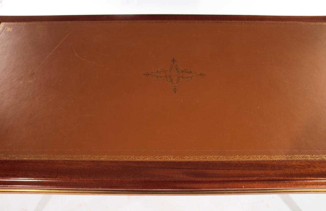 FRENCH LOUIS XVI STYLE WRITING DESK LEATHER TOP - 3