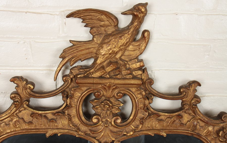 FEDERAL STYLE CARVED GILT WOOD MIRROR - 2