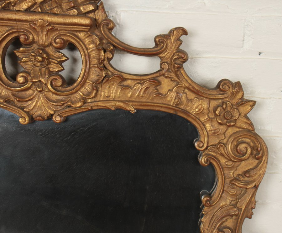 FEDERAL STYLE CARVED GILT WOOD MIRROR - 3
