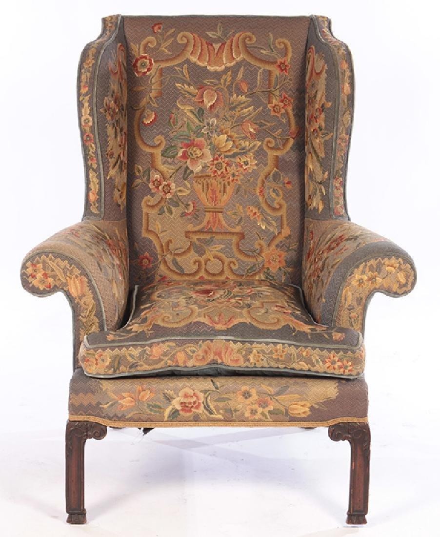 late 19th century english mahogany wing chair