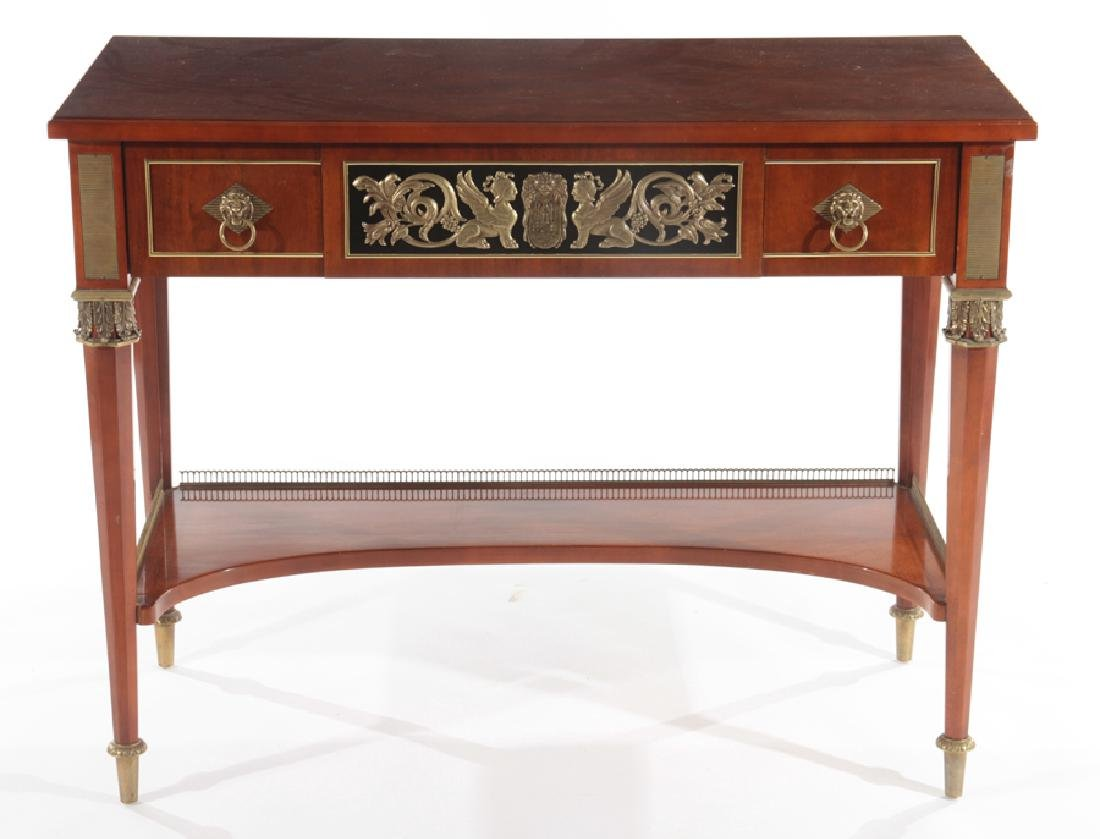 SIGNED JOHN WIDDICOMB WALNUT BRONZE CONSOLE TABLE