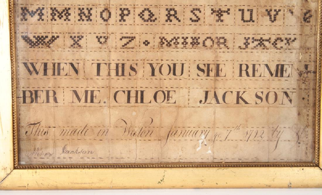 FAUX SAMPLER IN CALLIGRAPHY DATED AND SIGNED 1792 - 3