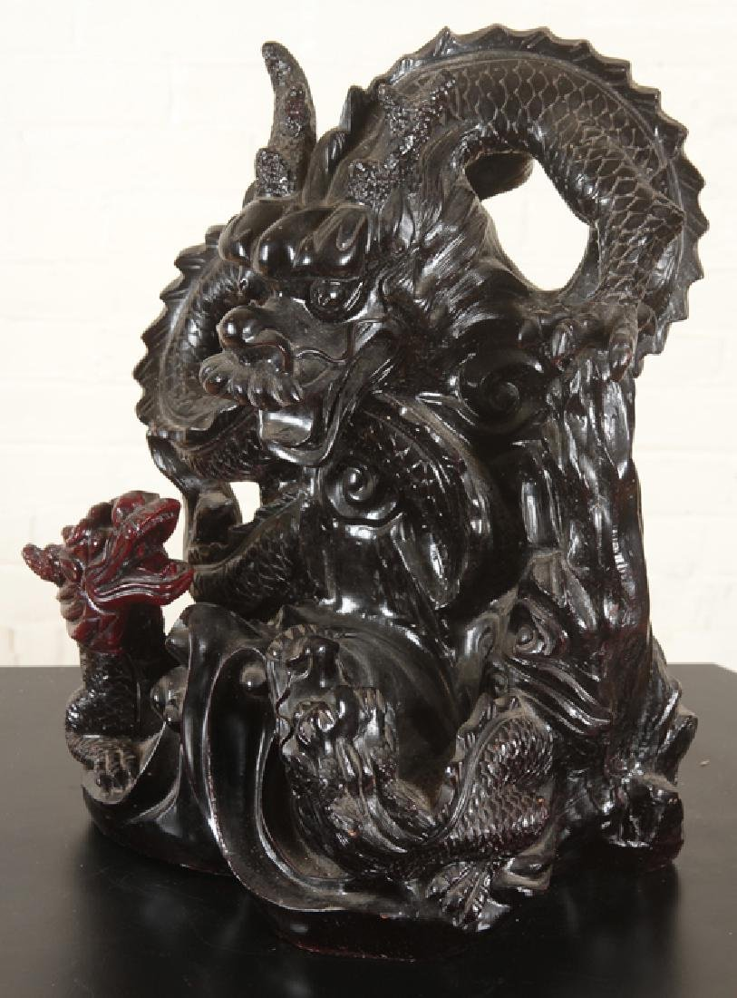 ELABORATE CHINESE DRAGON FIGURAL GROUP - 2