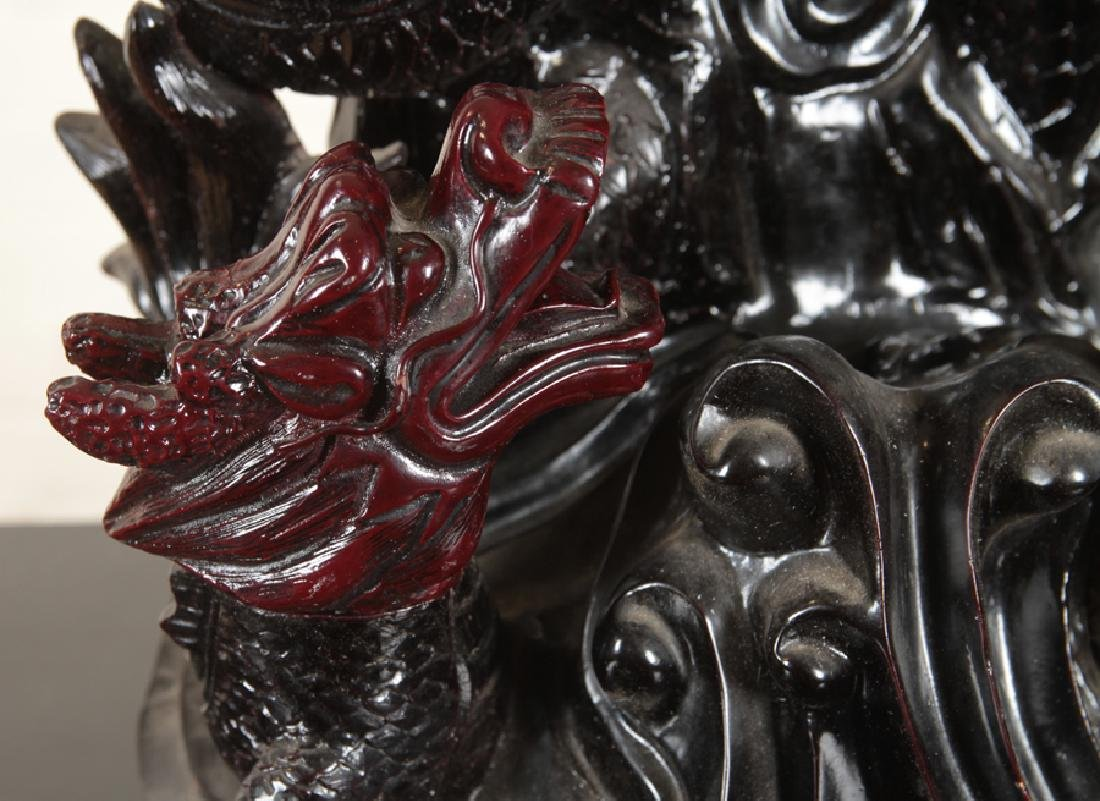 ELABORATE CHINESE DRAGON FIGURAL GROUP - 5