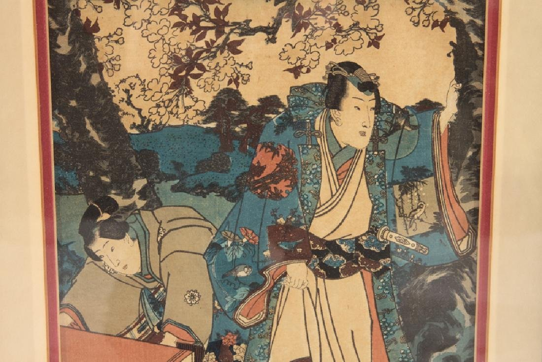 PAIR OF ANTIQUE JAPANESE WOODBLOCK PRINTS - 2