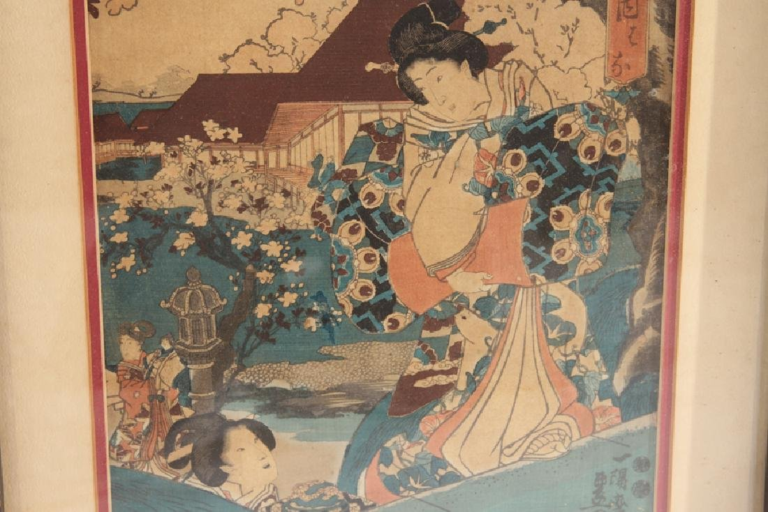 PAIR OF ANTIQUE JAPANESE WOODBLOCK PRINTS - 4