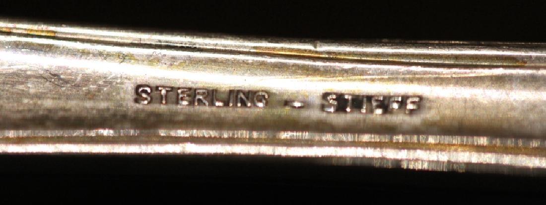 88 PIECE STIEFF STERLING FLATWARE 111.915 TROY OZ - 5