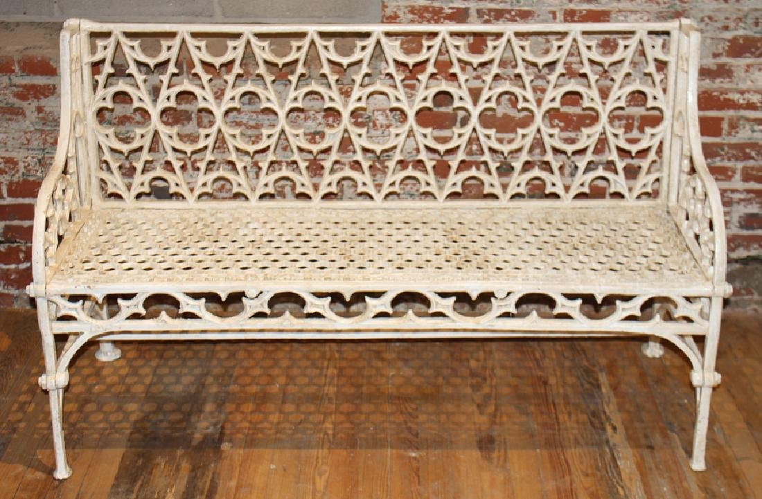 PAIR GOTHIC STYLE CAST IRON BENCHES - 2