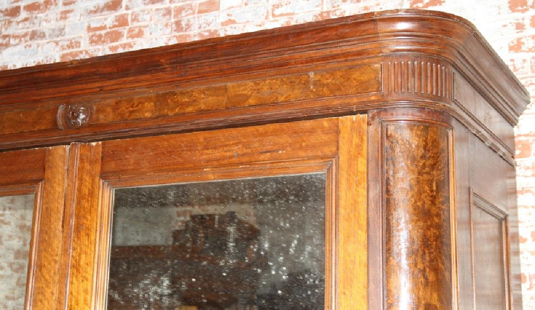 LARGE AMERICAN VICTORIAN WALNUT ARMOIRE C. 1870 - 2