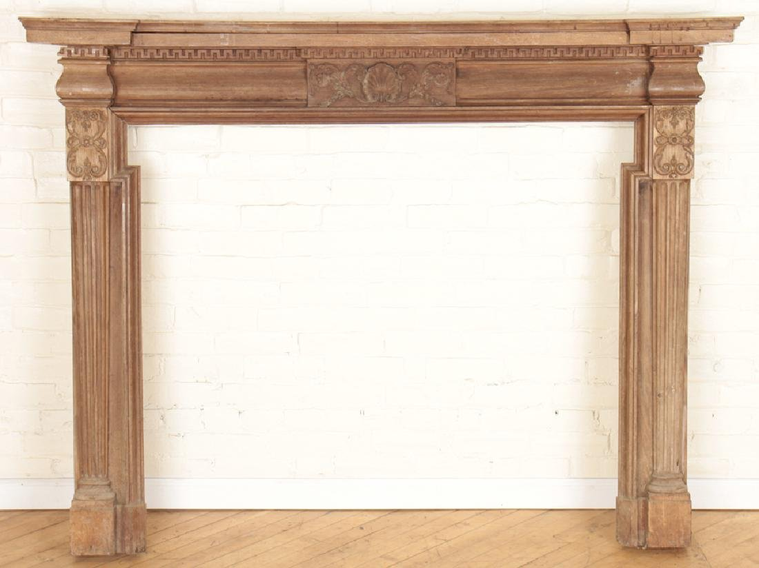 GEORGIAN STYLE MAHOGANY FIREPLACE MANTLE C.1920