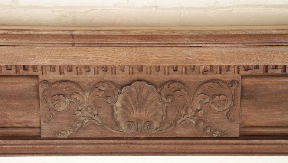 GEORGIAN STYLE MAHOGANY FIREPLACE MANTLE C.1920 - 3