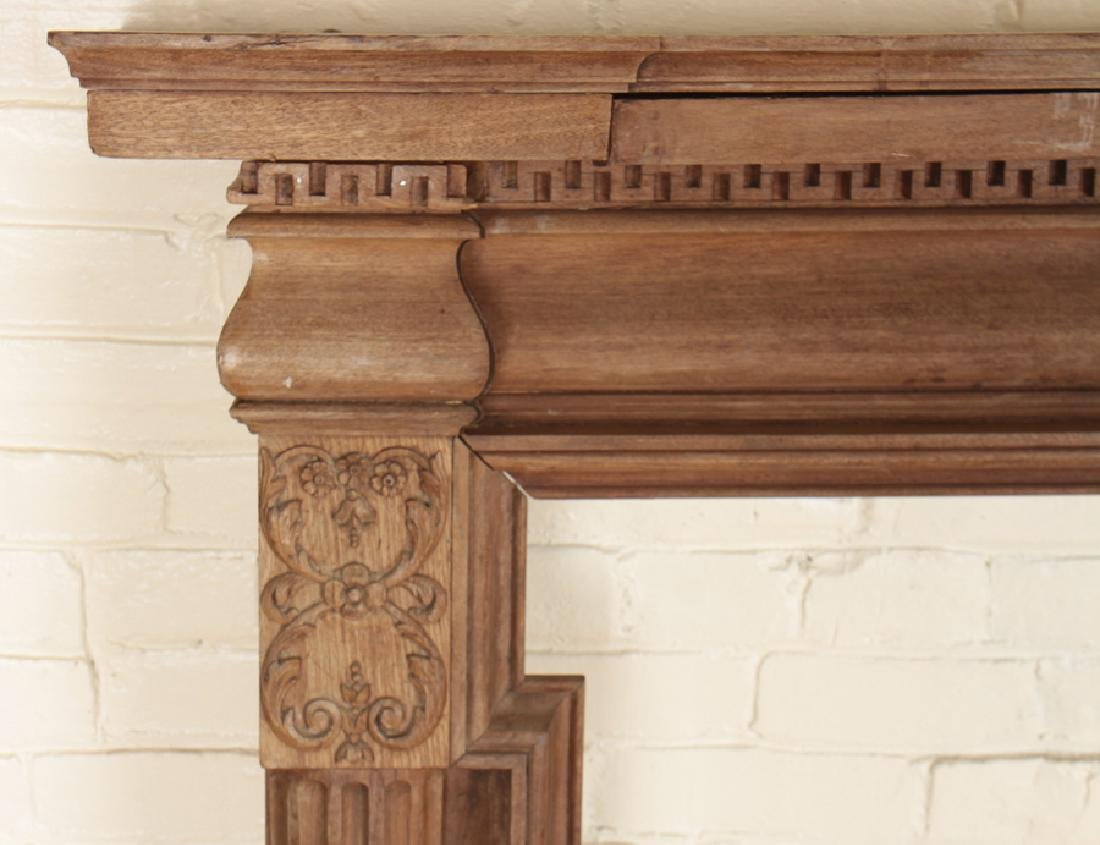 GEORGIAN STYLE MAHOGANY FIREPLACE MANTLE C.1920 - 4